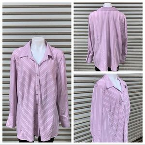 Worthington woman stretch button up blouse size 3X